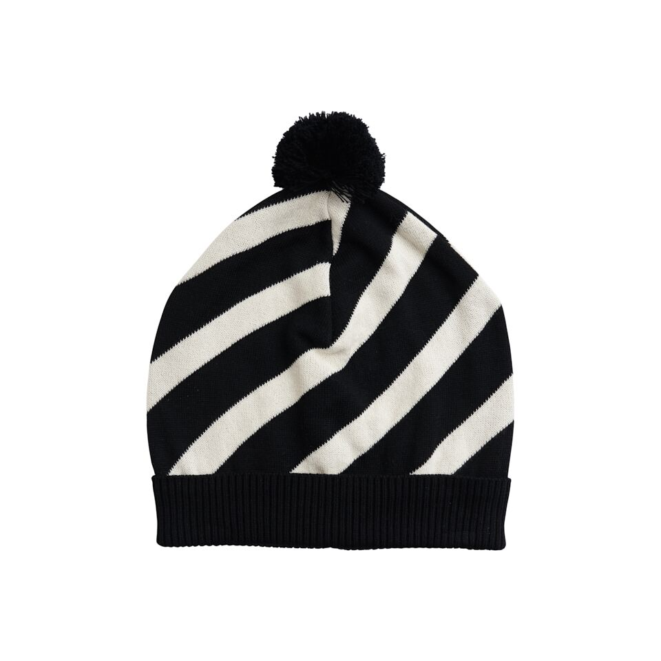 f2897e00930 Papu KNIT STRIPE POM POM BEANIE for women. Expand image