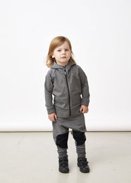 PAPU PATCH BAGGY kid, Melange grey