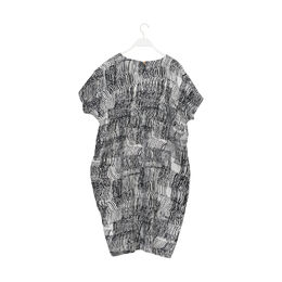 Papu LINEN DRESS SOUND WAVES