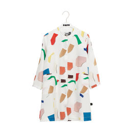 Papu - BUTTON DRESS kids, MAJOR COMPOSE White