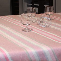 Tablecloth light 155x340 45L respberry, striped