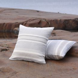 Cushion cover 46x46, 38L white dream stripe