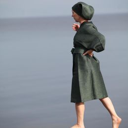 Bathrobe 818k twig-green