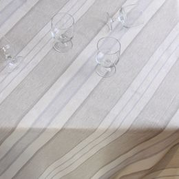 Linen tablecloth, 155 x 270, 45L blueberry stain, striped
