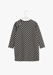 PAPU STRIPE TUNIC kid, black/sand