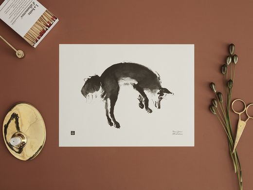 Poster Leaping Fox 40x30