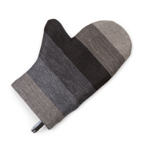 Oven mitt 013s grey stripe