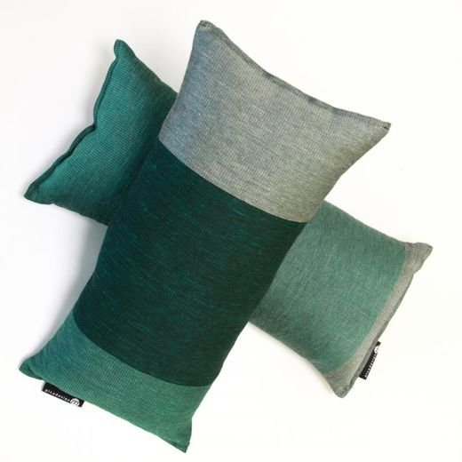 Bath cushion 25x50 18L green stripes