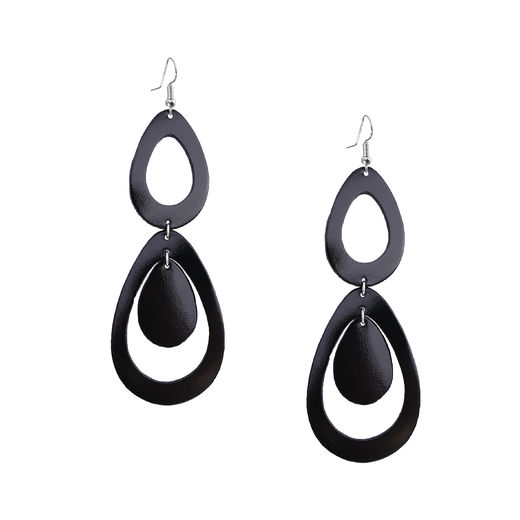 Viaminnet - SADE waterfall petite Earrings, black