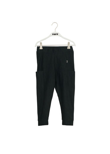 PAPU THIGH POCKET PANTS kid, Black