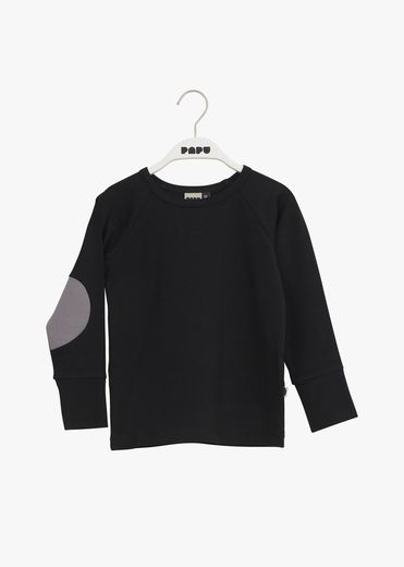 PAPU PATCH SHIRT kid, Black/Stone grey