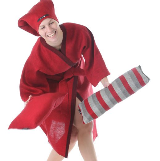 Bathrobe 500s red