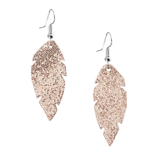 Viaminnet - FEATHERS Earrings, rose gold