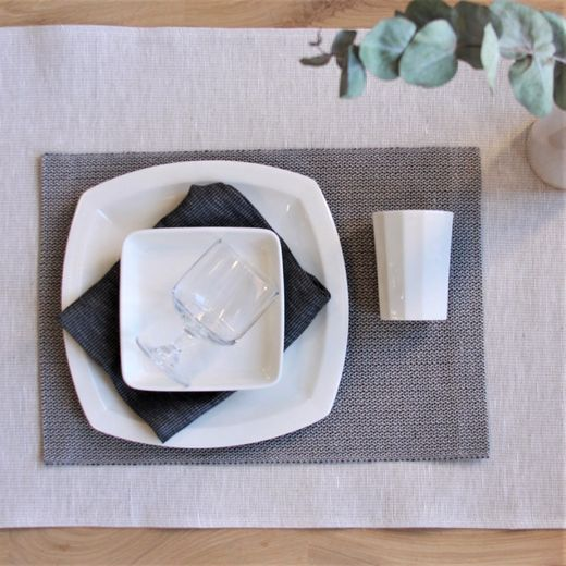 Pisa Design - Place mat 43x30 grey