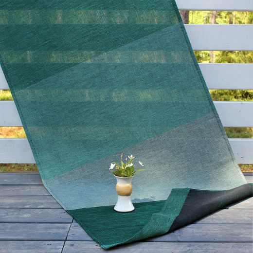 Runner light 49x150cm 18L stripe green