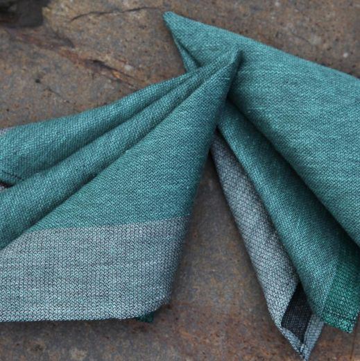 Napkin 18L stripe green