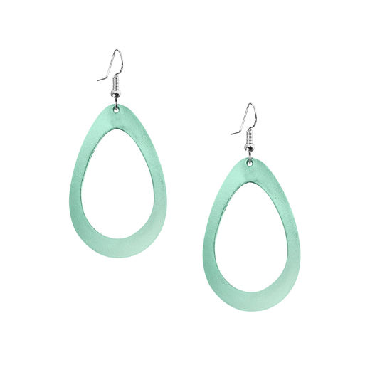 Viaminnet - SADE Raindrop Petite Earrings, light green