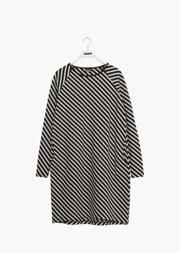 PAPU STRIPE TUNIC, BLACK, SAND