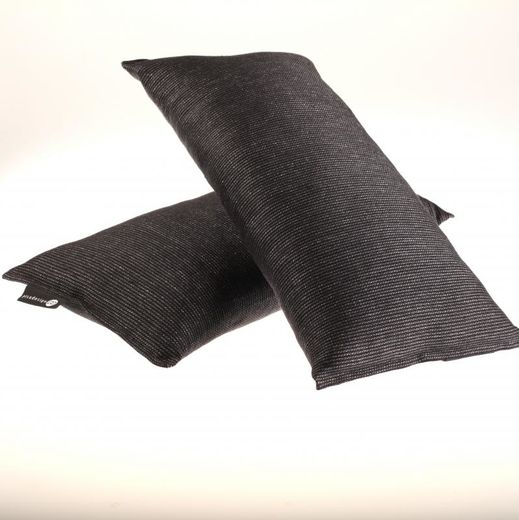 Bath pillow 25x50 122s black-grey