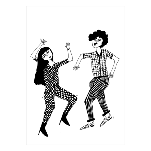 helen b - postcard dancing couple
