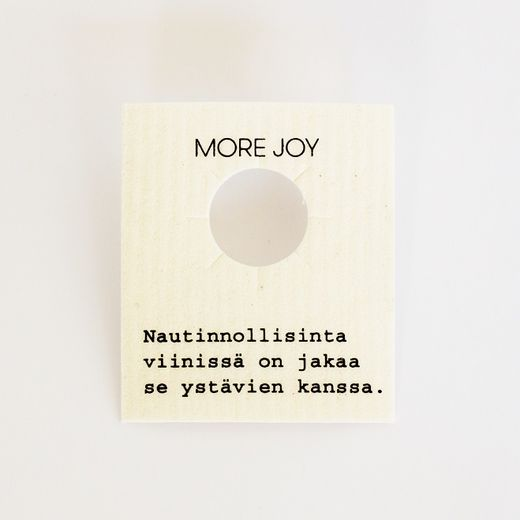 More Joy - Card for a bottle/