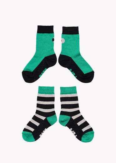 Papu SOCK KID, Double pack, Green