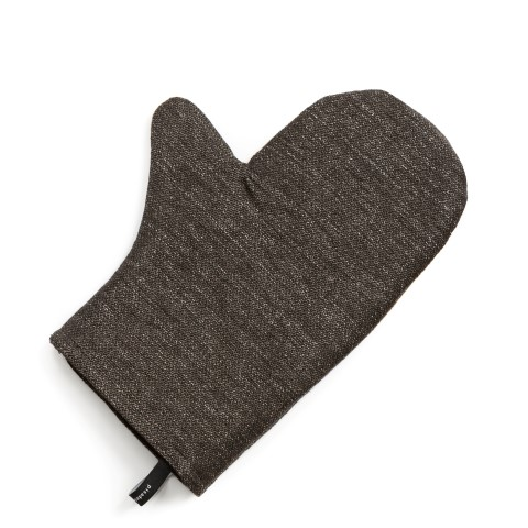 Oven mitt 180s melange brown