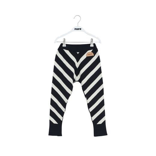 Papu KNIT STRIPE PANTS, Puffy Stripe Black/Sand