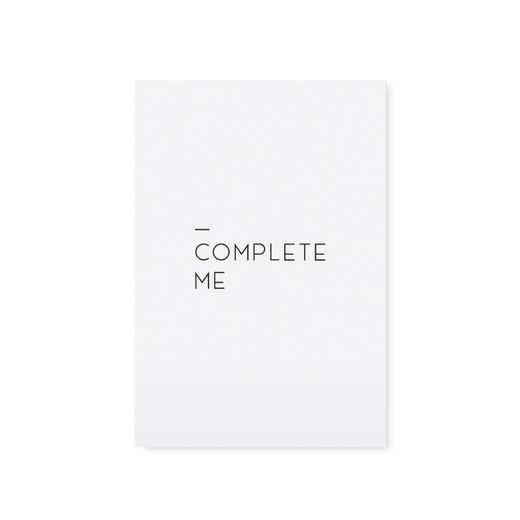 "Card ""Complete me"""