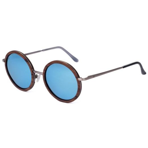 Aarni Bally - sunglasses Rosewood / blue lenses